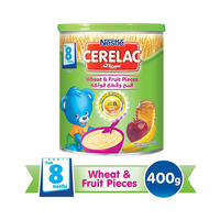 Nestlé Cerelac Wheat And Fruit Pieces With Milk From 8 Months 400GR Tin