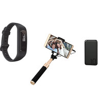 Huawei Band 3E Black + Power Bank 10000mAh + Selfie Stick AF11