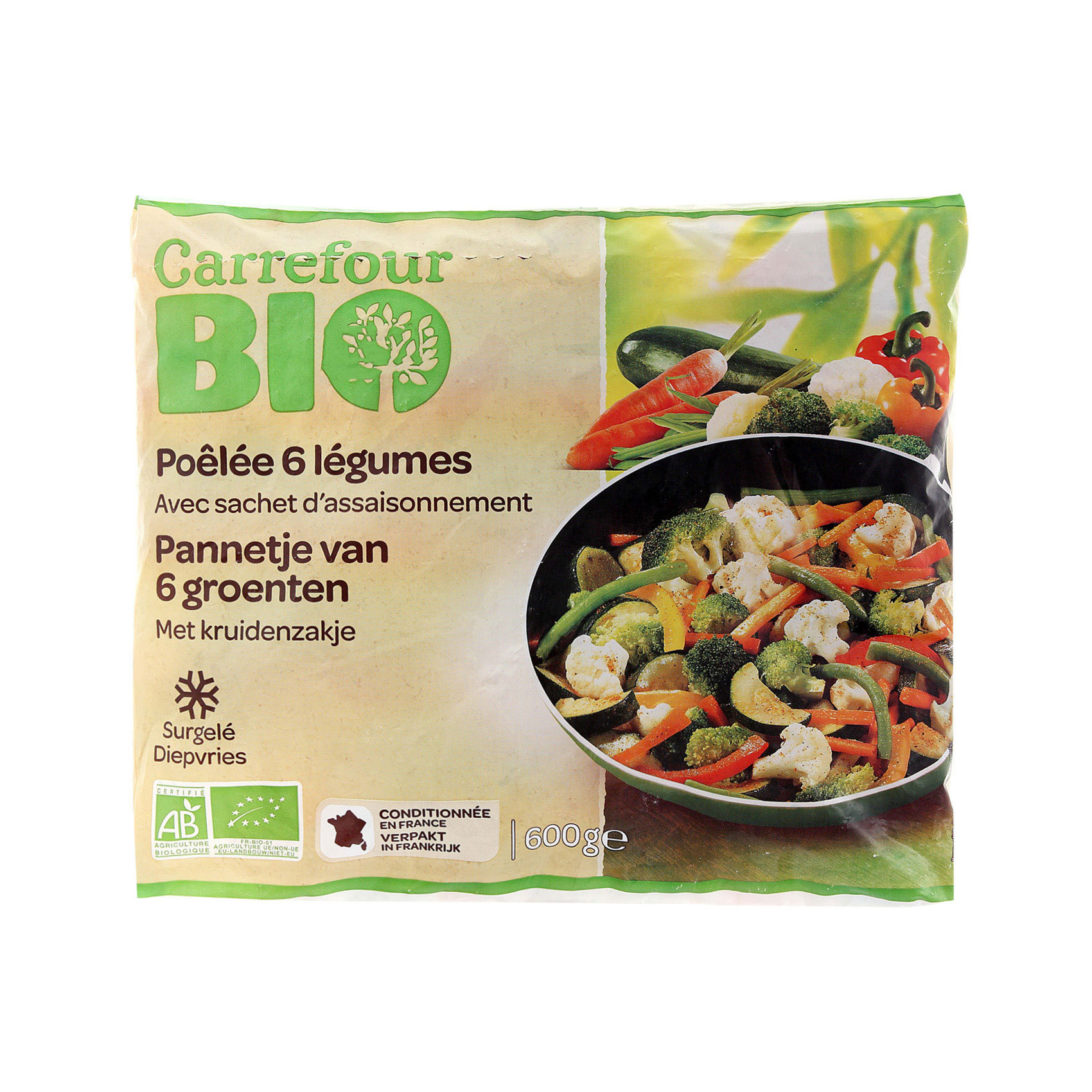 CRF BIO VEGETABLE MIX 600GR