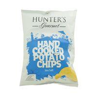 Hunter's Gourmet Hand Cooked Potato Chips Sea Salt 125g