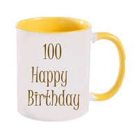 Happy Birthday Cups 100