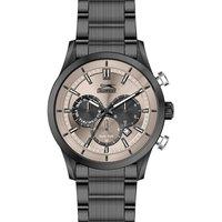 Slazenger Men's Multifunction Display Grey Dial Black Stainless Steel Bracelet - SL.9.6020.2.03