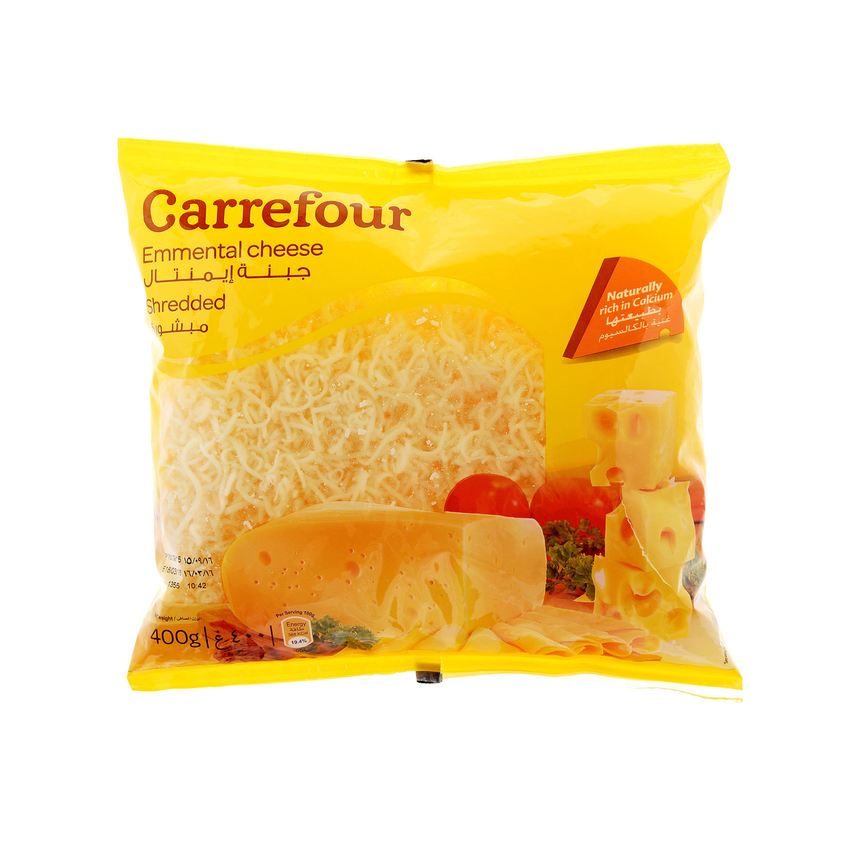 CRF EMMENTAL CHEESE SHREDDED 400G