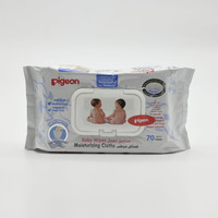 Pigeon Baby Wipes Cleaning & Moisturizing 70 Pieces