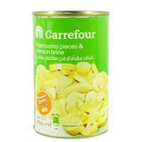 Carrefour Mushroom Pieces & Stems in Brine 425g