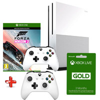 Microsoft Xbox One S 500GB Console+Forza Horizon 3 +3 Months Live +2 Wireless Controllers