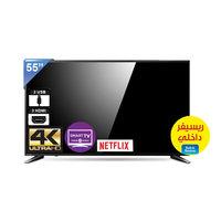 تلفزيون توشيبا سمارت بشاشة إل أي دي بتقنية 4K حجم 55 إنش موديل 55U58650EE لون أسود