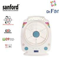 Sanford Rechargeable Fan With 12Led Light 14 Inch