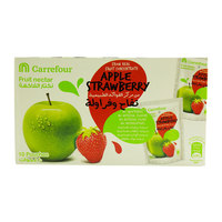 Carrefour Apple Strawberry Fruit Nectar 200ml x10