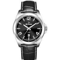 Tornado Men's Watch Analog Display Black Dial Black Genuine Leather Leather - T7007-SLBB