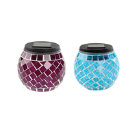 Mosaic Jar Lamp Assorted Colors