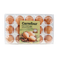 Carrefour Eggs Brown Medium x15