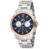 Slazenger Men's Chronograph Display Blue Dial Silver Stainless Steel Bracelet - SL.9.6007.2.01