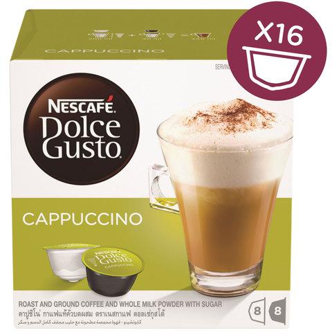 Nescafe-Dolce-Gusto-Cappuccino-Coffee-Capsules-(16-Capsules,-8-Cups)