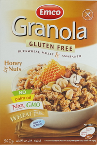 Emco Granola Gluten Free Honey & Nuts 340g