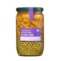Carrefour Peas And Carrot 720 Ml
