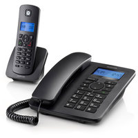 Motorola C4201 Corded Telephone with Cordless Handset Black