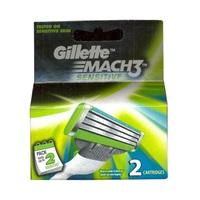 Gillette Mach 3 Turbo Sensitive Razor Blades Refill Pack Of 2