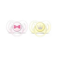 Philips Avent Mini Orthodontic Soothers For Girl  0-2 Months 2 Pieces
