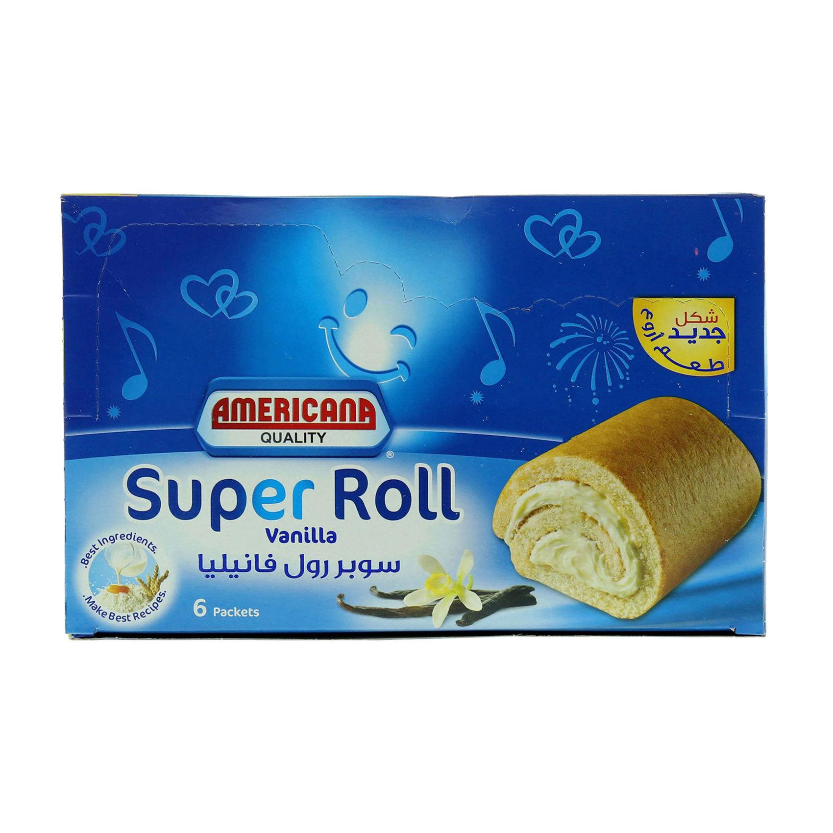 AMERICANA SUPER ROLL VANILLA 60GX6