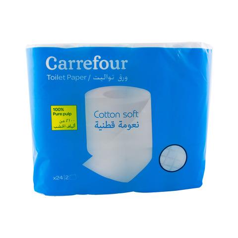 Carrefour-Cotton-Soft-Toilet-Roll-24-Pieces