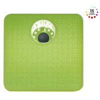 Salter Mechanical Bathroom Scale 407 GNKR Green, Magnified Display