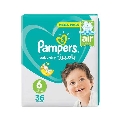 29bcf9de2a6 Buy Pampers Baby-Dry Diapers Size 6 Extra Large Jumbo Pack 36 ...