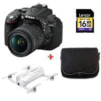 NIKON SLR D5300 18-55 Lens VR+16GB Memory Card + Case + Dobby Drone