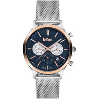 Lee Cooper Men's Multi-Function Silver Case Silver Super Metal Strap Blue Dial -LC06296.442
