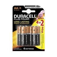 Duracell Plus Power Long Lasting AA6 4+22 Free