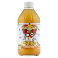 Dynamic Health Organic Raw Apple Cider Vinegar with Mother & Honey 473ml