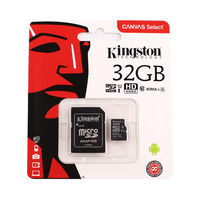 Kingston Micro SD Card Class 10 32GB Black