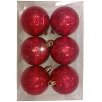 Balls Set 6Pcs 6Cm Designballs Red Sunny