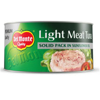 Del Monte Light meat Tuna Solid Pack in Sunflower Oil 185g