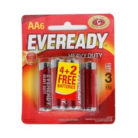 EVEREADY Super Heavy Duty Battery AA 4 Pieces + 2 Free
