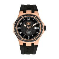 CAT Men's Watch Navigo Carbon Date Analog Black Dial Black Fabric / Rubber Band 44mm  Case
