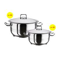 Hascevher Steel Pot Set Of 2 Pieces 20Cm+26Cm