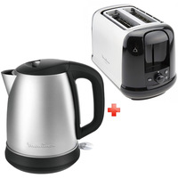 Moulinex Kettle By550D27 + Toaster Lt340827