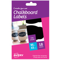 Avery Chalkboard Label Scalloped
