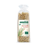 Amisa Organic Pasta Wholegrain Rice Fusilli Gluten Free 500GR