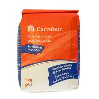 Carrefour Fine Table Salt Iodized Red 1kg