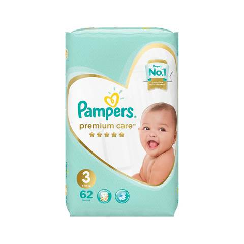 153b461cb6b Buy Pampers Premium Care Diapers Size 3 Midi Value Pack 62 diapers ...