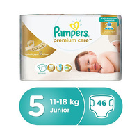 Pampers Diapers Premuim Mega Pack Junior Size 5 46 Pieces -10%
