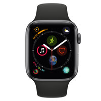 Apple Watch Series-4 GPS 44mm Space Grey Aluminium Case with Black Sport Band(MU6D2AE/A)