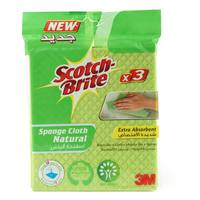 Scotch Brite Sponge Cloth Natural 3 Sponges