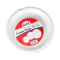 First One Foam Plate 26 Cm 25Pcs