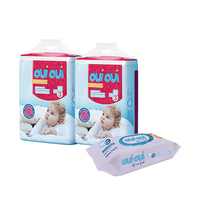 Oui Oui Premium Baby Diapers Size3 5-9KG + Wipes Free