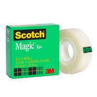 3M Scotch Brand Magic Tape, 1in x 36 yd, Boxed (810)