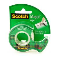 "3M Scotch Magic Tape with Dispenser, 3/4"" x 300"""