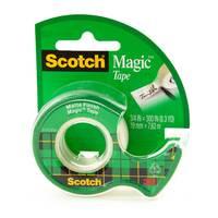 """3M Scotch Magic Tape with Dispenser, 3/4"""" x 300"""""""